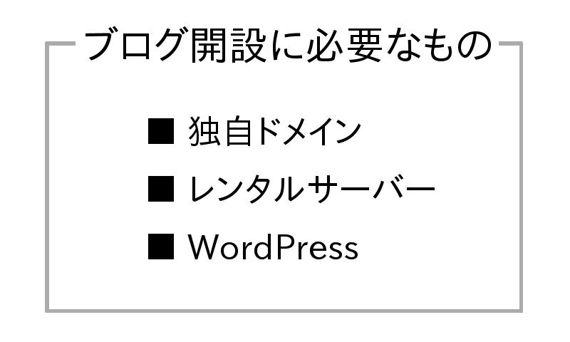 WordPressブログに必要なモノは3つだけ!